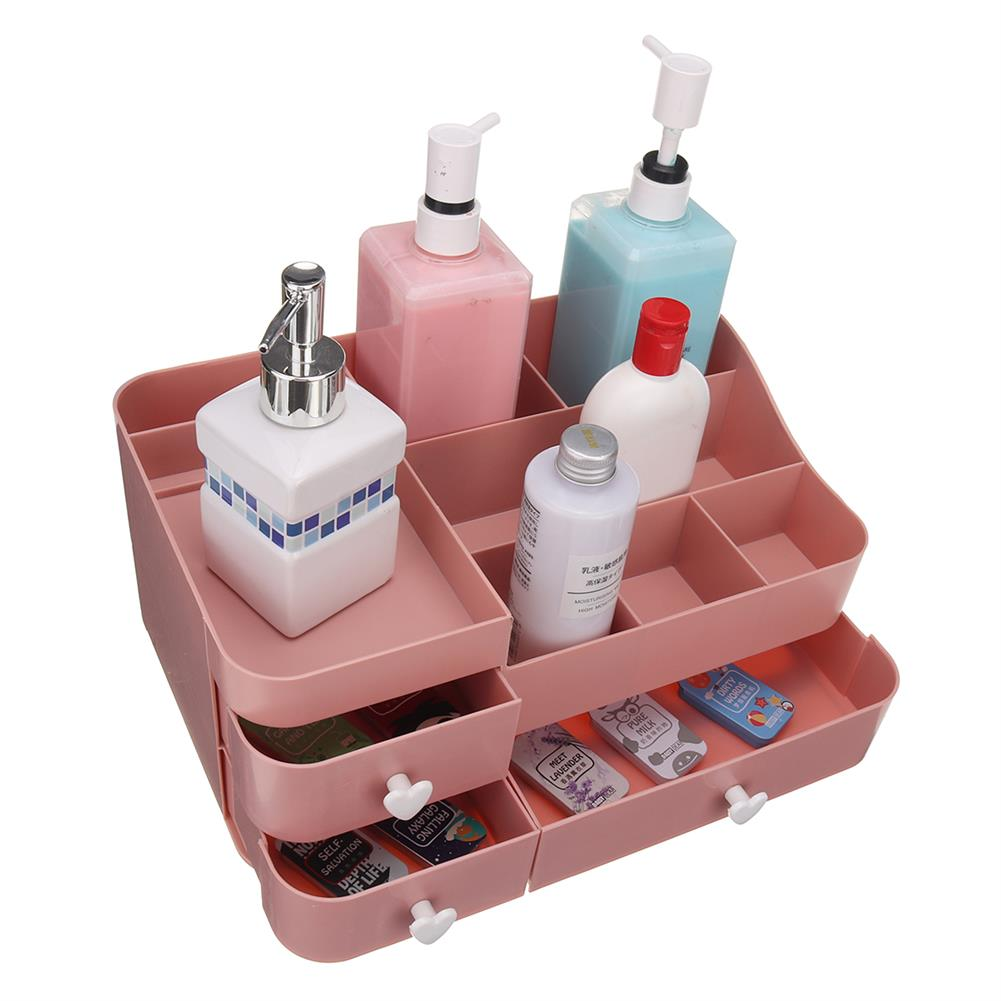 desktop-off-surface-shelves 34x22x15cm Plastic Cosmetic Organizer Makeup Case Holder Drawers Jewelry Storage Home Desk Storage Supplies HOB1743332 1 1