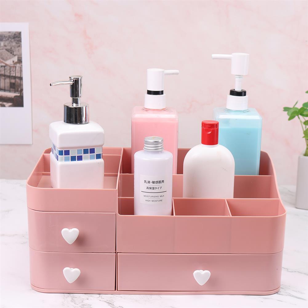desktop-off-surface-shelves 34x22x15cm Plastic Cosmetic Organizer Makeup Case Holder Drawers Jewelry Storage Home Desk Storage Supplies HOB1743332 2 1