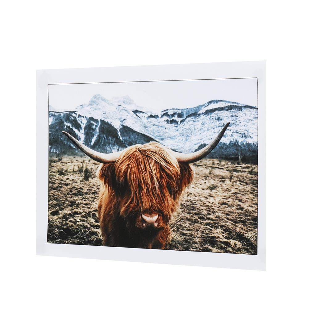 art-kit 1 Piece Canvas Print Painting Highland Cow Poster Wall Decorative Printing Art Pictures Frameless Wall Hanging Decorations for Home office HOB1743443 1 1