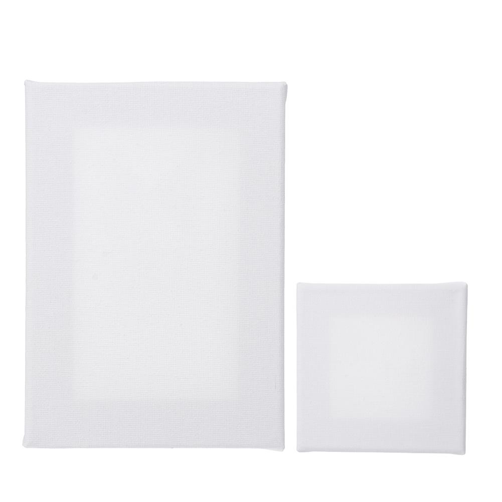 artboard-easel 10Pcs White Blank Square Artist Canvas for Canvas Oil Painting Wooden Board Frame for Primed Oil Acrylic Paint HOB1743568 1 1