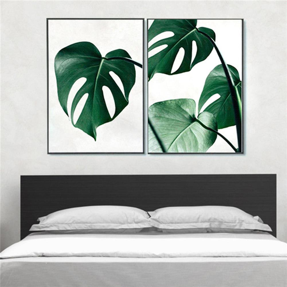 art-kit 1 Piece Canvas Print Painting Nordic Green Plant Leaf Canvas Art Poster Print Wall Picture Home Decor No Frame HOB1743641 1