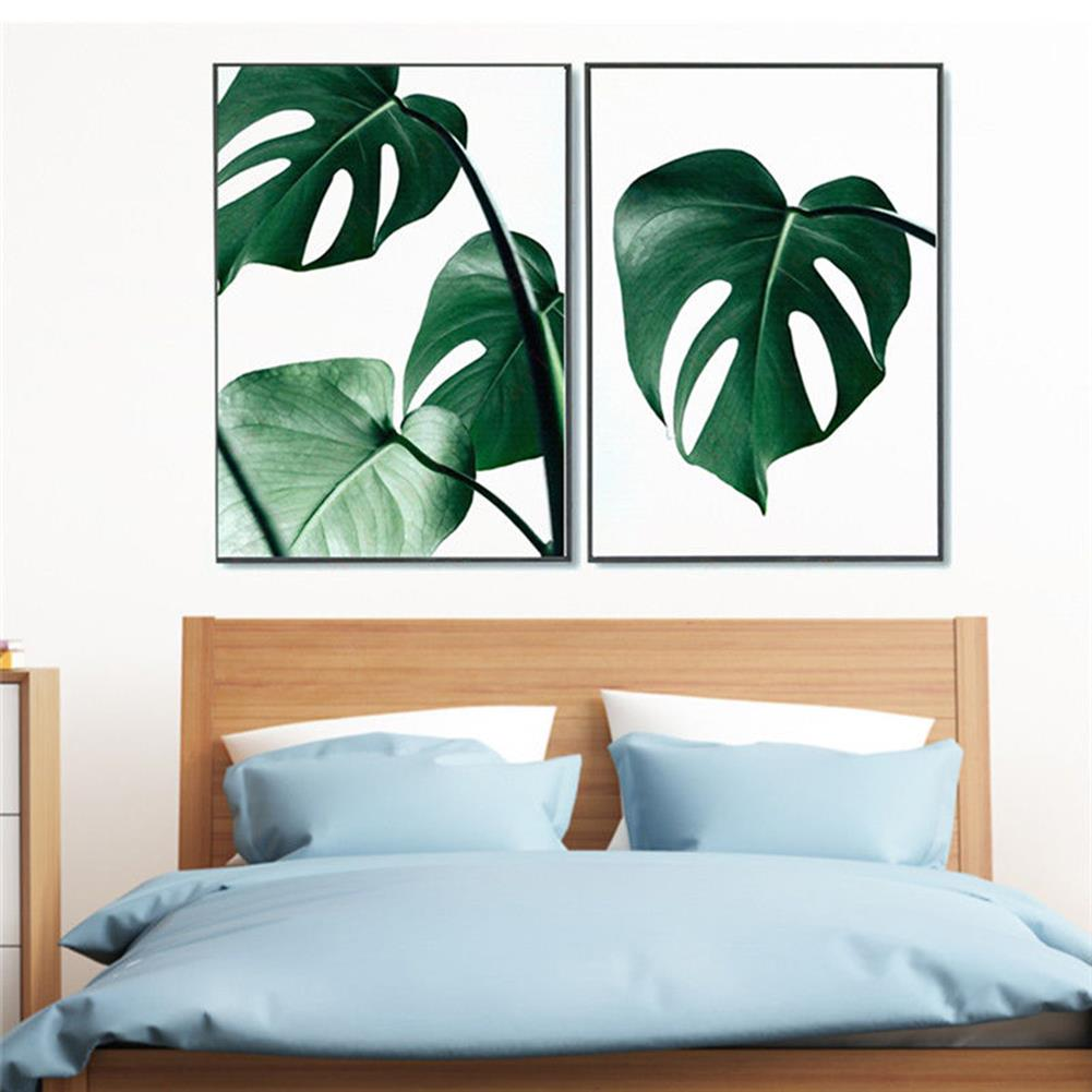 art-kit 1 Piece Canvas Print Painting Nordic Green Plant Leaf Canvas Art Poster Print Wall Picture Home Decor No Frame HOB1743641 1 1