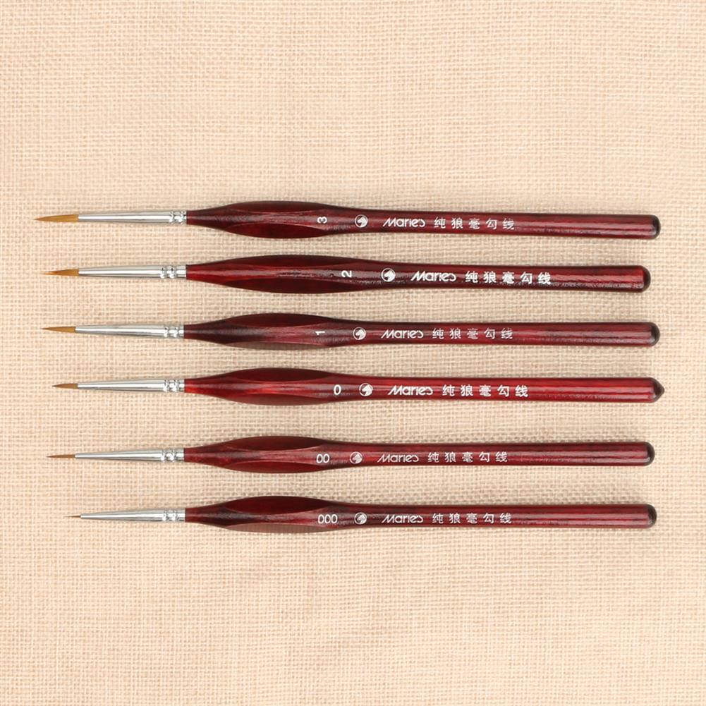 brush Extra Fine Detail Paint Brushes Set 6 Sizes Professional Sable Hair Miniature Art Nail Brushes HOB1744003 1 1