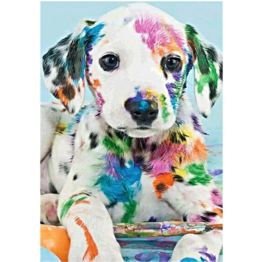 art-kit DIY Diamond Painting Animal Dog Wall Painting Hanging Pictures Handmade Wall Decorations Gifts Drawing for Kids Adult HOB1744046 1