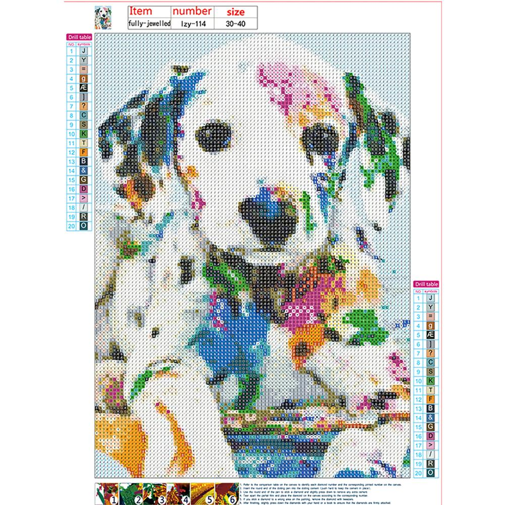 art-kit DIY Diamond Painting Animal Dog Wall Painting Hanging Pictures Handmade Wall Decorations Gifts Drawing for Kids Adult HOB1744046 1 1