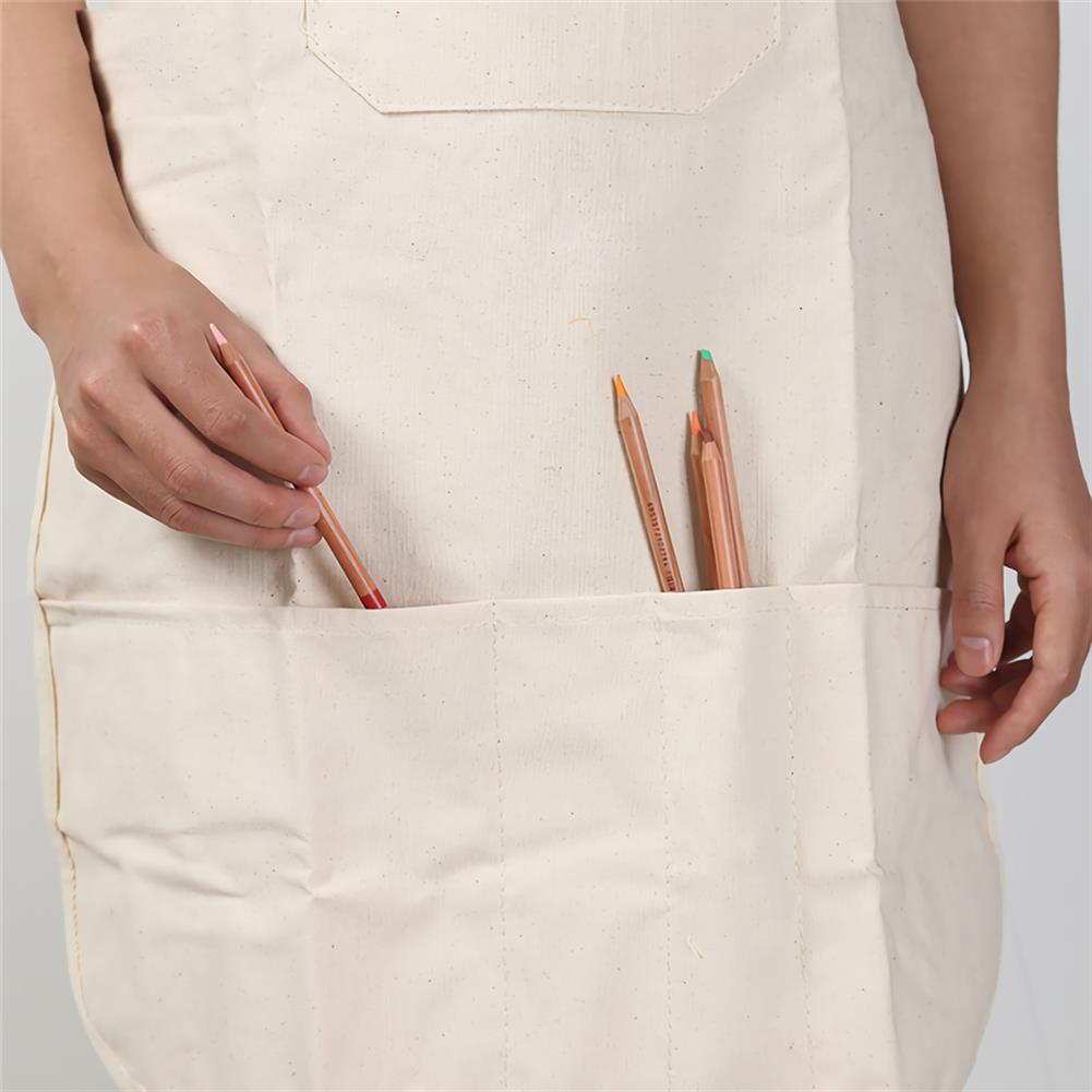 other-learning-office-supplies Cotton Linen Material Painting Apron Oil Painting Apron Adult Painting Waterproof and Antifouling Overalls Drawing Supplies HOB1744130 2 1