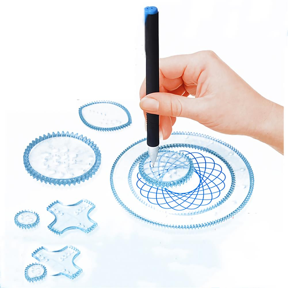 art-kit Painting Puzzle Spirograph Geometric Ruler Set Multi-function Drafting Tools Students Drawing Toys Children Learning Art Tool HOB1744268 1 1