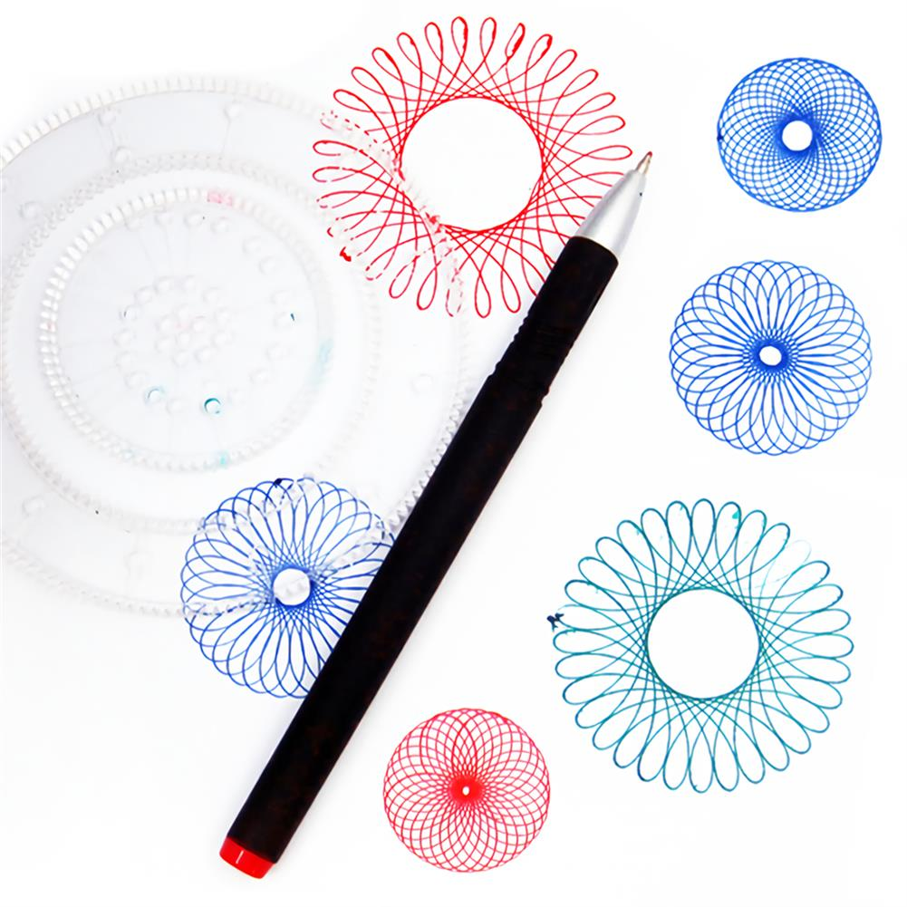 art-kit Painting Puzzle Spirograph Geometric Ruler Set Multi-function Drafting Tools Students Drawing Toys Children Learning Art Tool HOB1744268 2 1