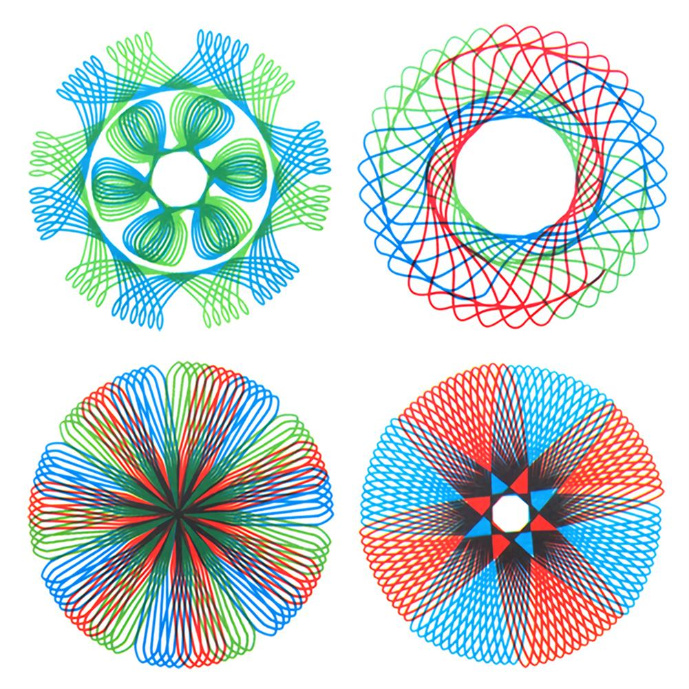 art-kit Painting Puzzle Spirograph Geometric Ruler Set Multi-function Drafting Tools Students Drawing Toys Children Learning Art Tool HOB1744268 3 1