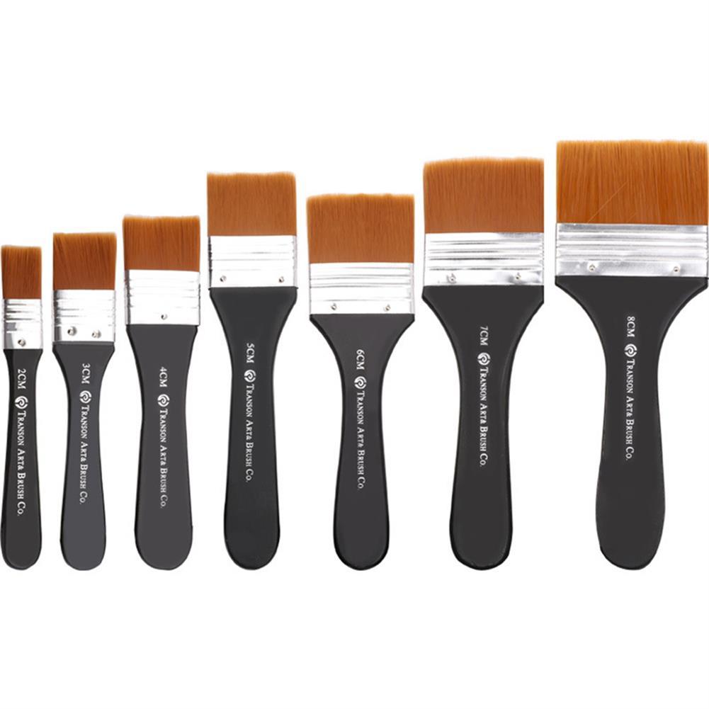 brush 1pc Nylon Hair Oil Painting Brush Watercolor Big Artist Drawing Paint Brush Pen Art Accessory Wooden Handle Painting Tool HOB1744637 1