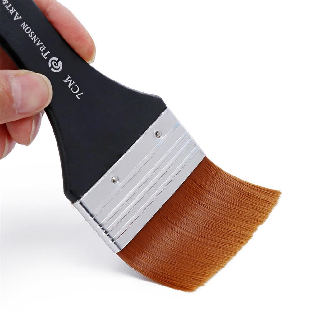 brush 1pc Nylon Hair Oil Painting Brush Watercolor Big Artist Drawing Paint Brush Pen Art Accessory Wooden Handle Painting Tool HOB1744637 1 1