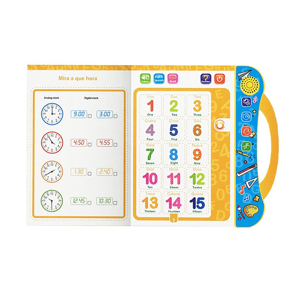 other-learning-office-supplies E-Book Children Early Reading Machine Spanish English Voice Book Cute Learning Machine Kids Early Education E-Book Toy HOB1744639 1 1