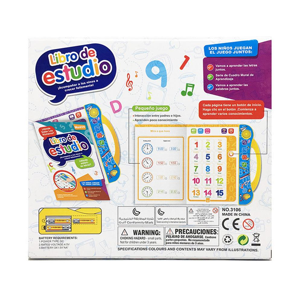 other-learning-office-supplies E-Book Children Early Reading Machine Spanish English Voice Book Cute Learning Machine Kids Early Education E-Book Toy HOB1744639 2 1