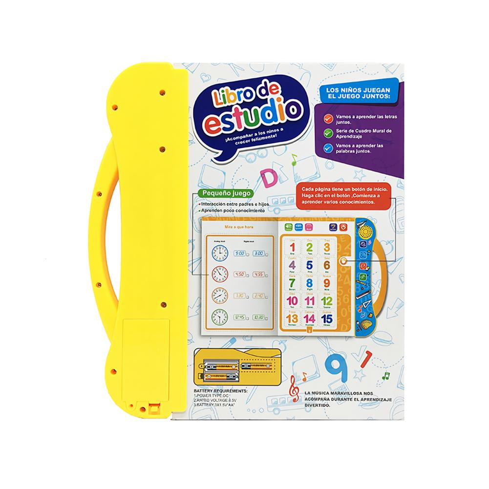other-learning-office-supplies E-Book Children Early Reading Machine Spanish English Voice Book Cute Learning Machine Kids Early Education E-Book Toy HOB1744639 3 1
