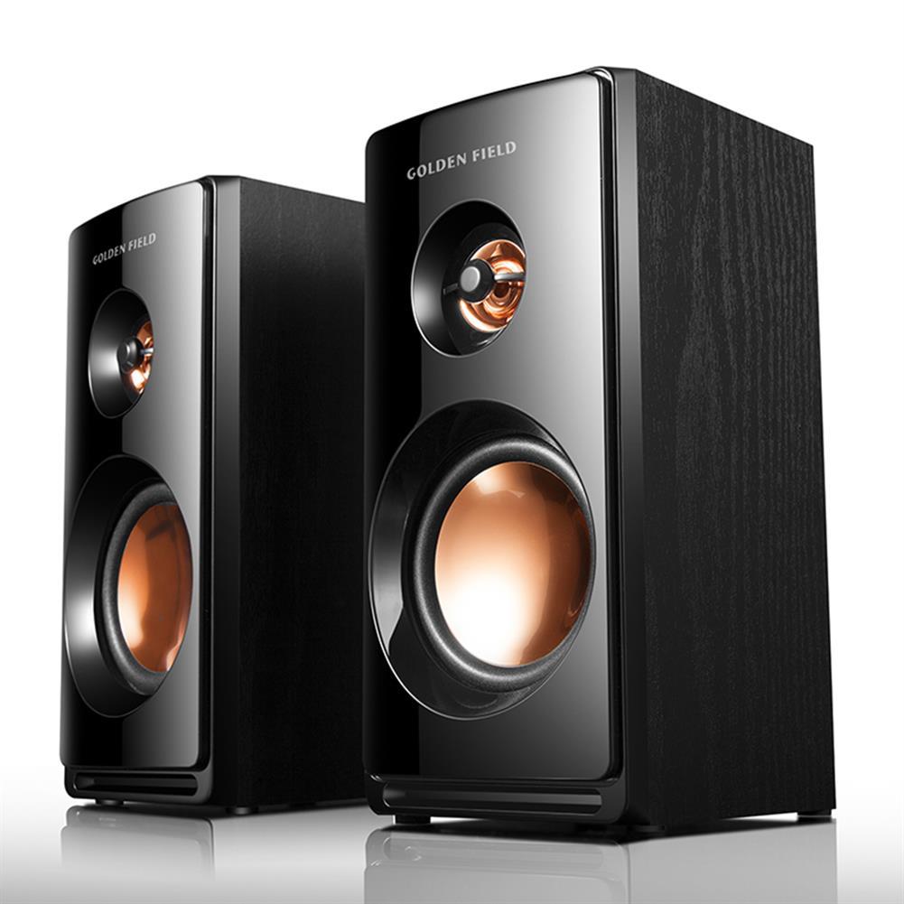 computer-speakers Golden Field M102 Desktop Multimedia 2.0 Soundtrack Speaker USB Wooden Small Audio Subwoofer Volume Adjustment 3.5mm Audio interface Compatibility HOB1744768 3 1