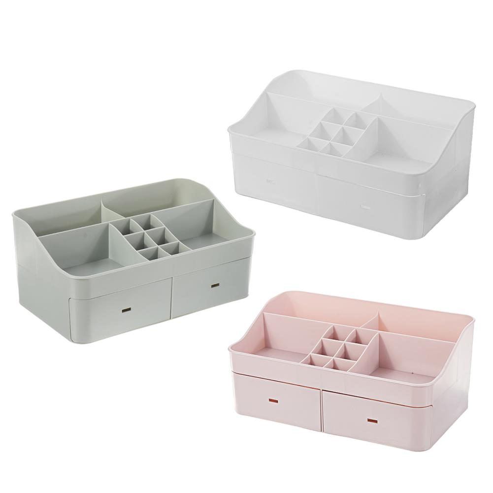 desktop-off-surface-shelves Large Capacity Cosmetic Storage Box Makeup Drawer Organizer Jewelry Makeup Container Mobile Phone Sundries Storage HOB1744906 1