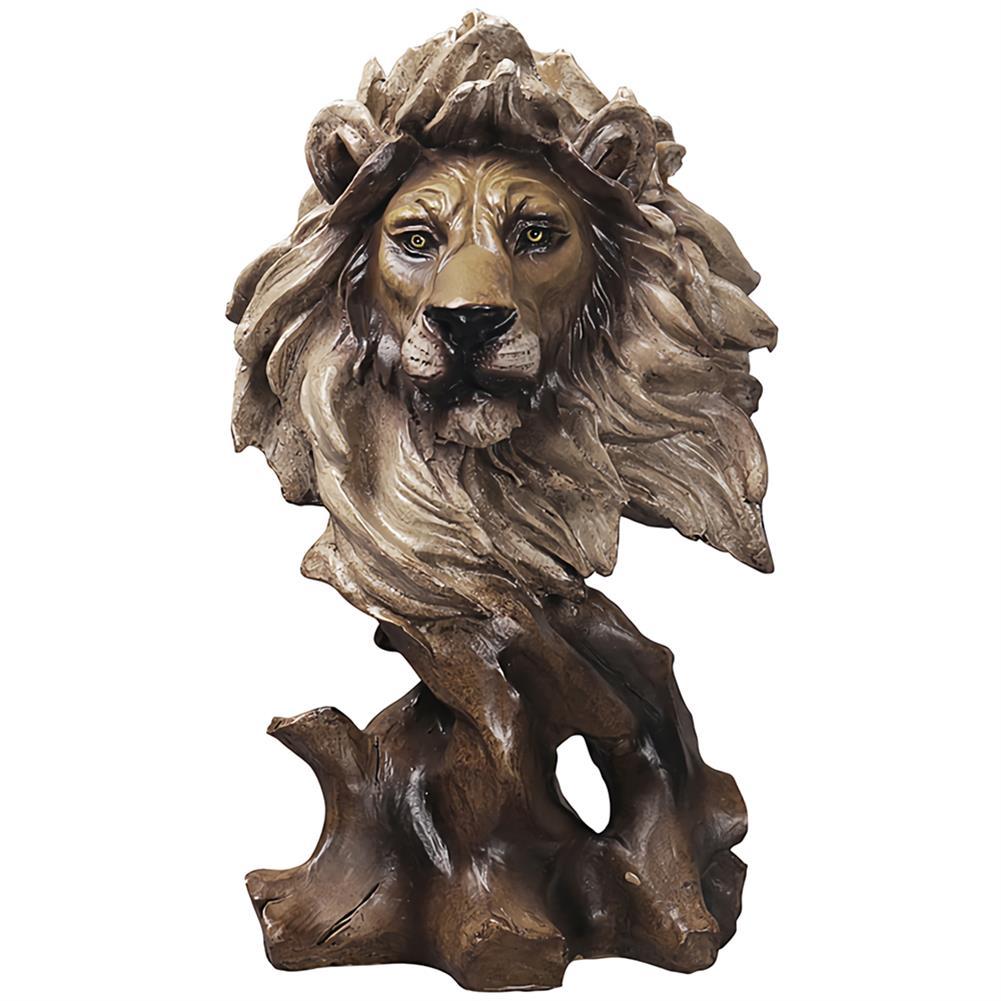 desktop-off-surface-shelves Animals Head Art Sculpture Creative Wood Horse Lion Eagle Resin Statue Crafts Home Decoration Business Gifts Supplies HOB1745412 1
