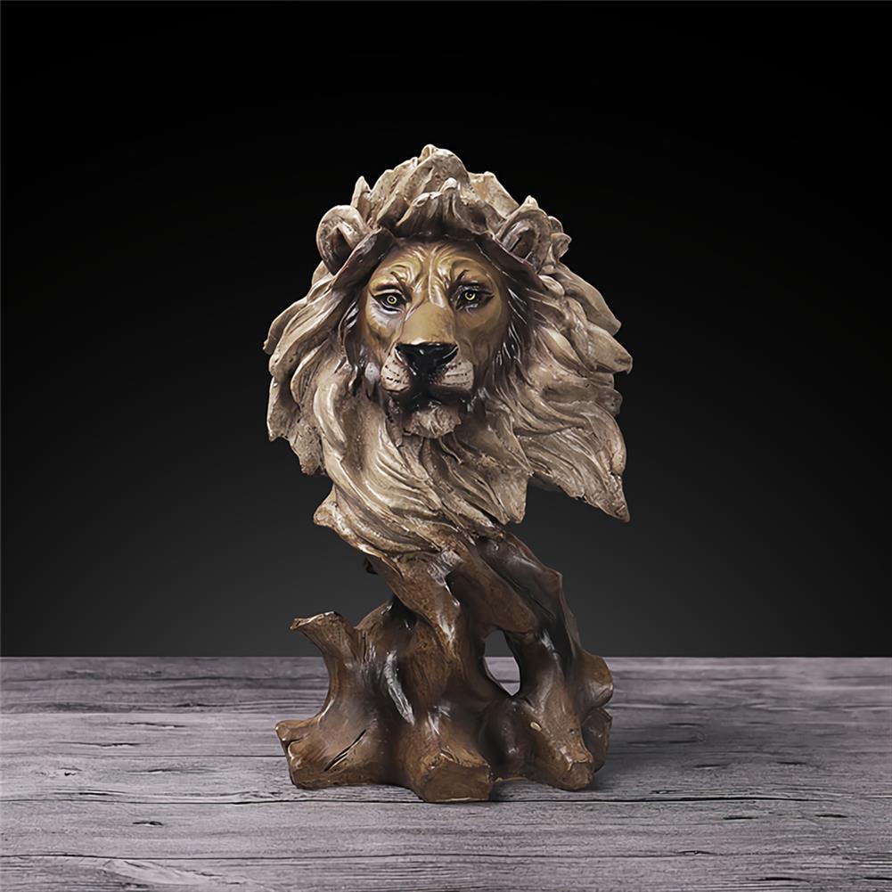 desktop-off-surface-shelves Animals Head Art Sculpture Creative Wood Horse Lion Eagle Resin Statue Crafts Home Decoration Business Gifts Supplies HOB1745412 3 1