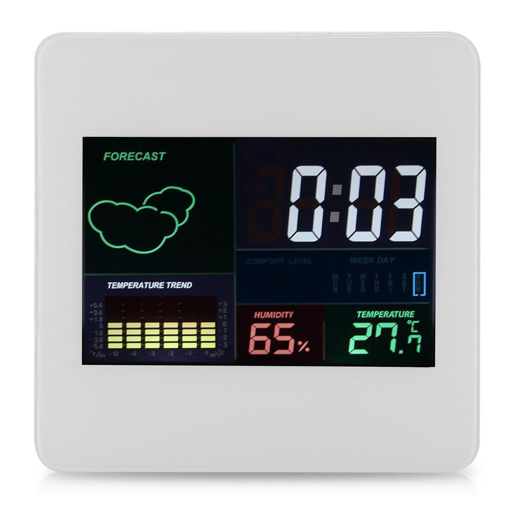 desktop-off-surface-shelves TS-S61 Digital Temperature Humidity Clock indoor Wireless LED Calendar Alarm Clock HOB1745585 1