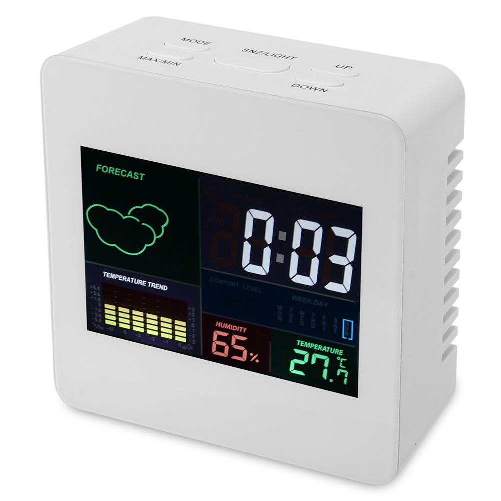 desktop-off-surface-shelves TS-S61 Digital Temperature Humidity Clock indoor Wireless LED Calendar Alarm Clock HOB1745585 1 1