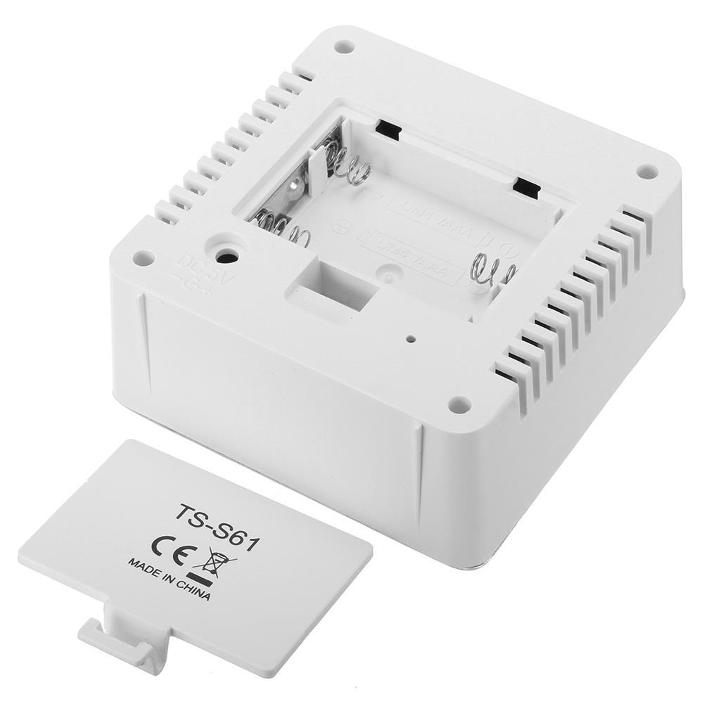 desktop-off-surface-shelves TS-S61 Digital Temperature Humidity Clock indoor Wireless LED Calendar Alarm Clock HOB1745585 3 1
