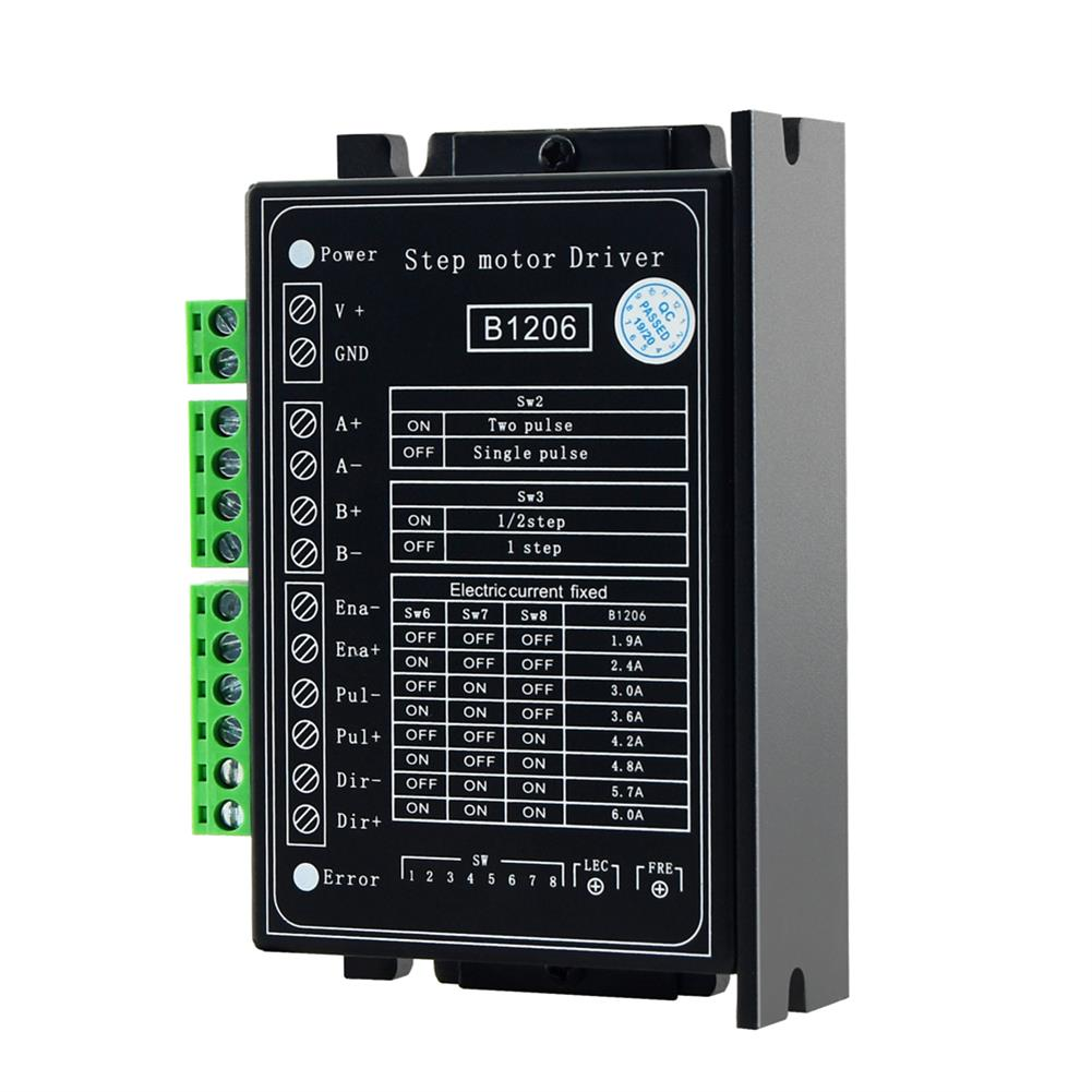 3d-printer-accessories TWO TREES B1206 Full/Half Step Driver 2-Phase Stepper Motor Driver Driving Voltage 20V-120VDC Current 6A for 3D Printer HOB1745734 1