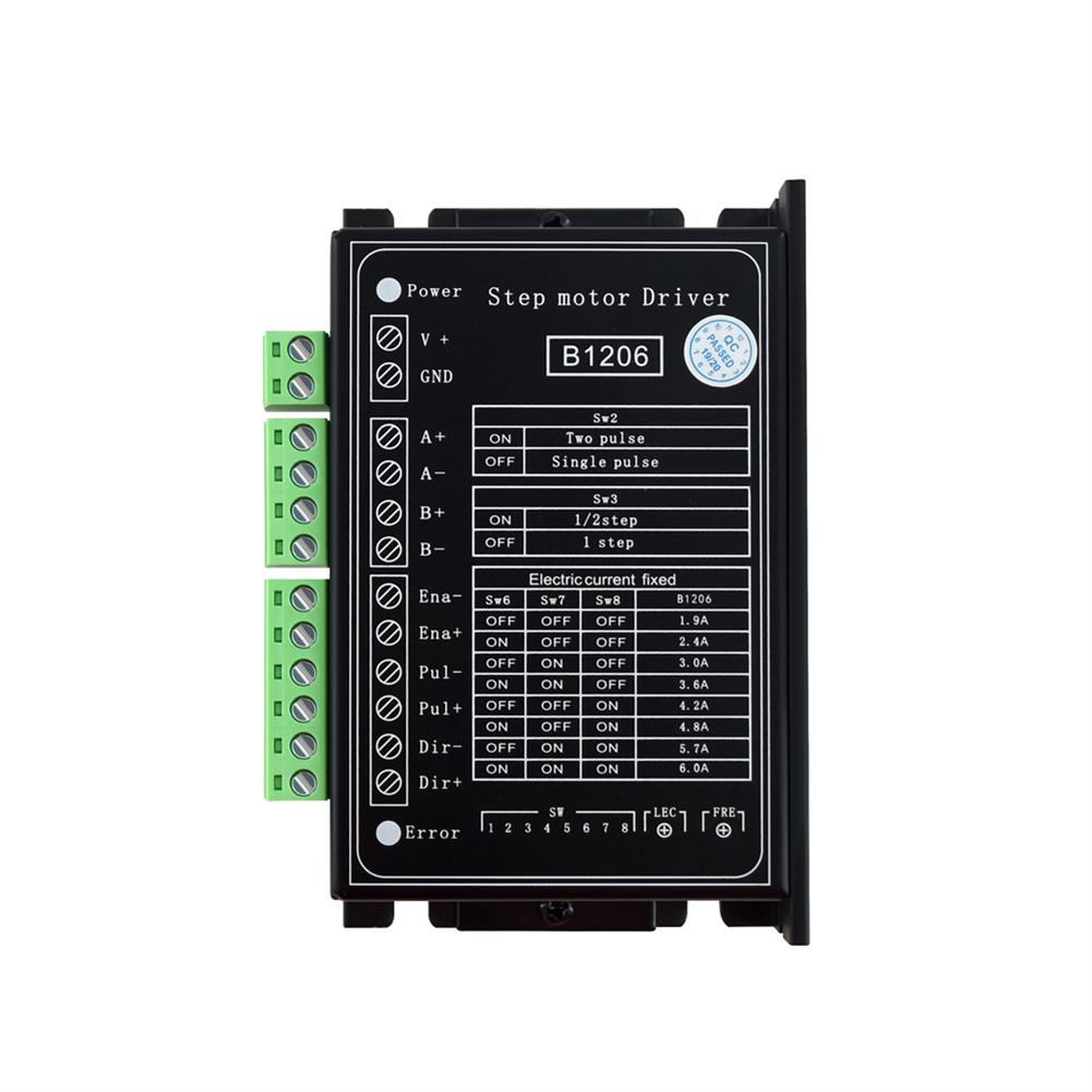 3d-printer-accessories TWO TREES B1206 Full/Half Step Driver 2-Phase Stepper Motor Driver Driving Voltage 20V-120VDC Current 6A for 3D Printer HOB1745734 1 1