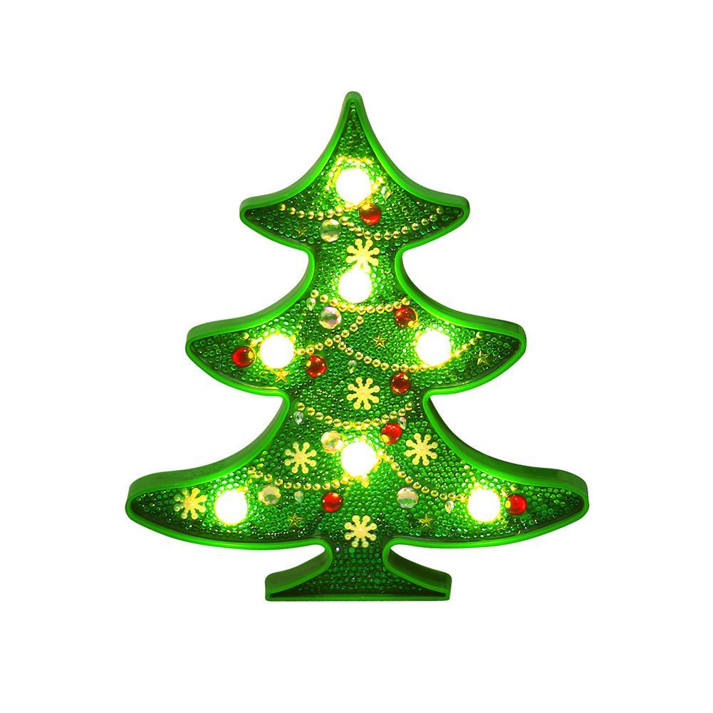 desktop-off-surface-shelves-Diamond Painting 3D Christmas Tree LED Christmas Decoration Lighting Cute Snowman Ornament Xmas Party Home Decoration-HOB1746292 1