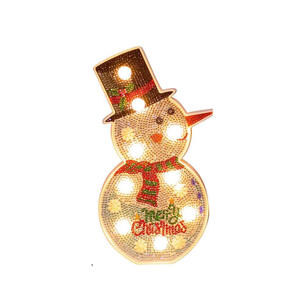 desktop-off-surface-shelves-Diamond Painting 3D Christmas Tree LED Christmas Decoration Lighting Cute Snowman Ornament Xmas Party Home Decoration-HOB1746292 1 1
