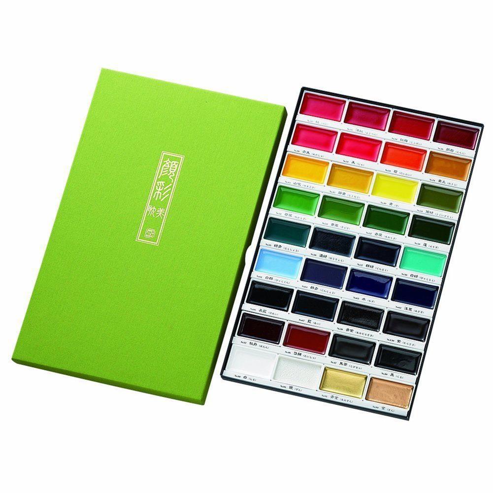 watercolor-paints 36 Colors Watercolor Paint Set Box Drawing Solid Watercolor Set Pigment Art Stationery Painting Supplies HOB1746353 1