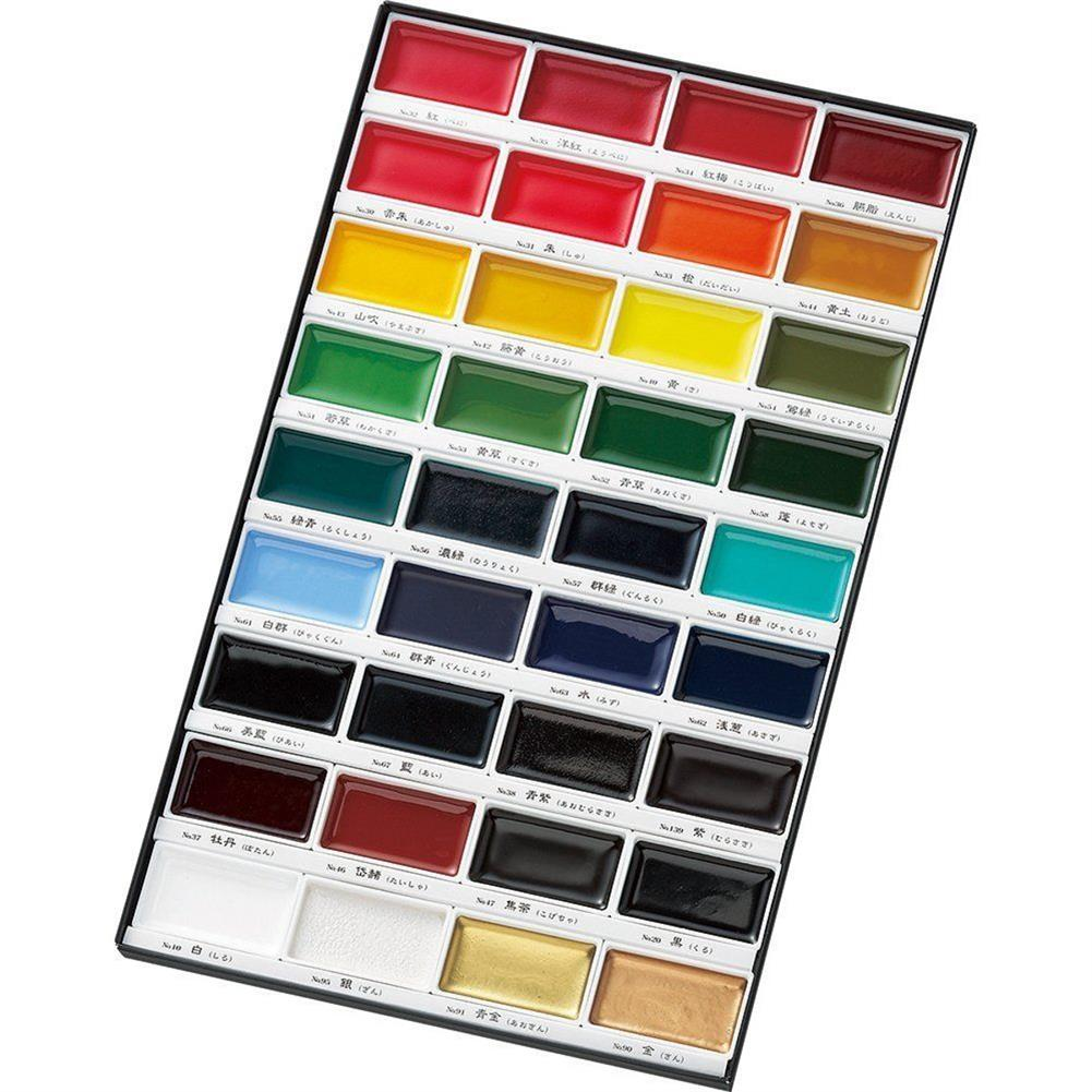 watercolor-paints 36 Colors Watercolor Paint Set Box Drawing Solid Watercolor Set Pigment Art Stationery Painting Supplies HOB1746353 1 1