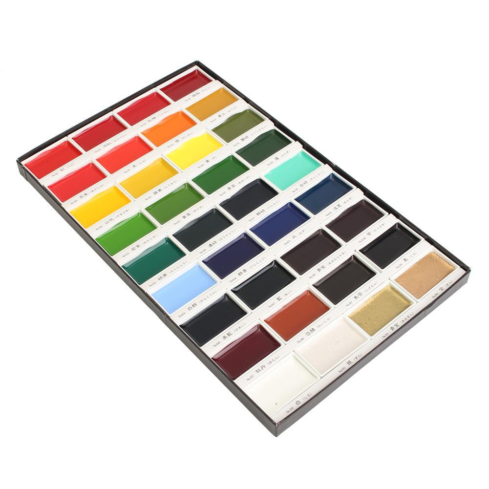 watercolor-paints 36 Colors Watercolor Paint Set Box Drawing Solid Watercolor Set Pigment Art Stationery Painting Supplies HOB1746353 2 1