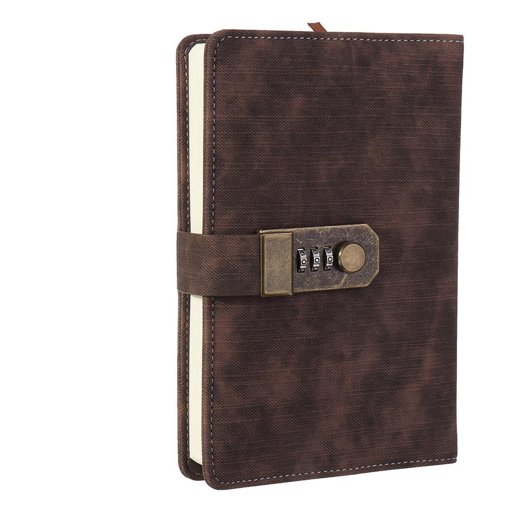 paper-notebooks B6 Retro Leather Vintage Journal Notebook Lined Paper Diary Planner with Lock Stationery Writing Business Gifts Supplies HOB1746405 1