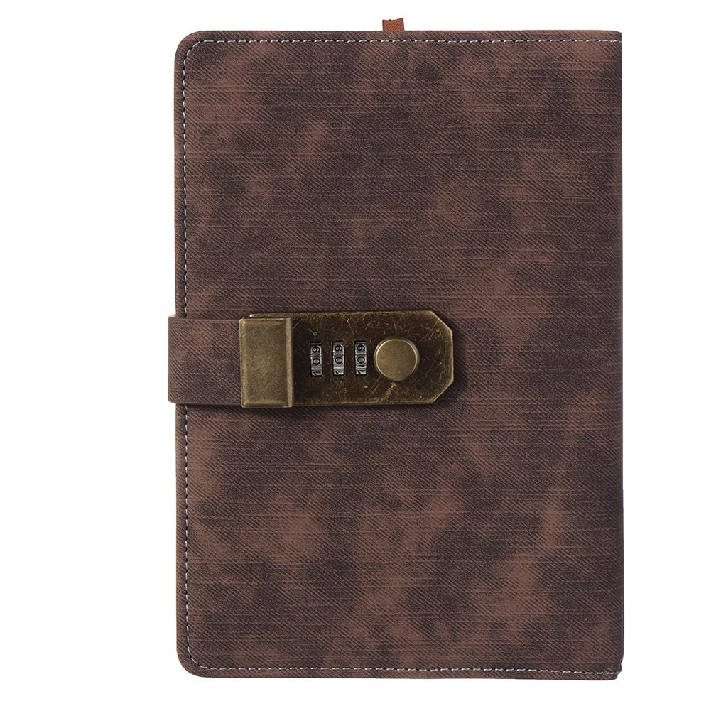 paper-notebooks B6 Retro Leather Vintage Journal Notebook Lined Paper Diary Planner with Lock Stationery Writing Business Gifts Supplies HOB1746405 1 1