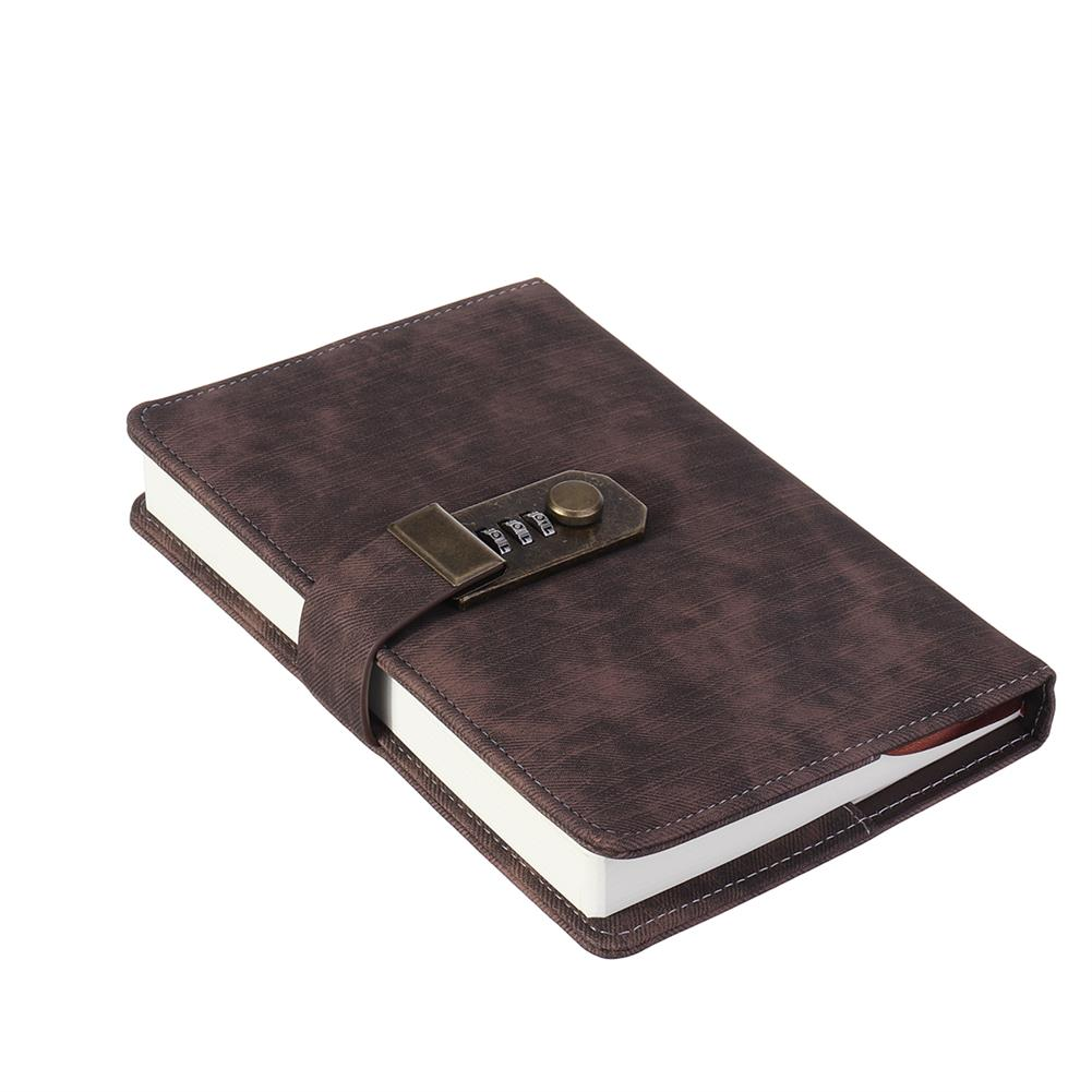 paper-notebooks B6 Retro Leather Vintage Journal Notebook Lined Paper Diary Planner with Lock Stationery Writing Business Gifts Supplies HOB1746405 3 1
