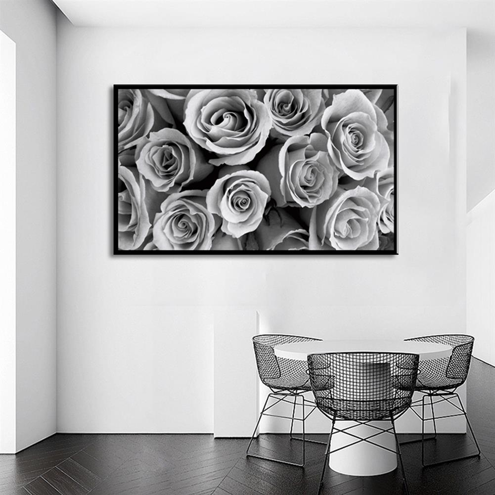 art-kit 1 Piece Canvas Print Paintings Grey Rose Wall Decorative Print Art Pictures Wall Hanging Decorations for Home office No Frame HOB1746599 1