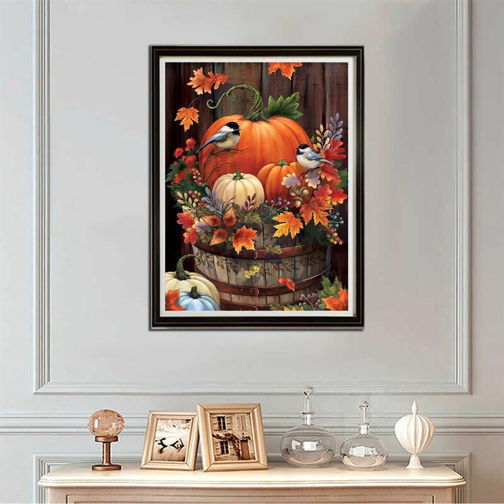 art-kit DIY 5D Diamond Painting Pumpkin Bird Full Drill Handmade Craft Cross Stitch Embroidery Flower Pink Clouds Home Wall Decorations HOB1746607 1 1
