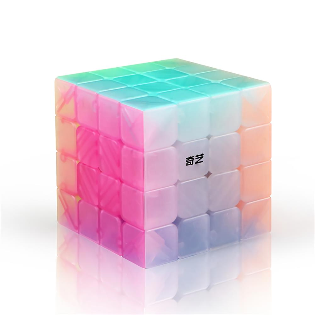 other-learning-office-supplies QiYi Magic Cube Jelly Color 3x3 4x4 5x5 Keychain Pyramid Professional Speed Cube Children Educational Toy Supplies HOB1748040 2 1