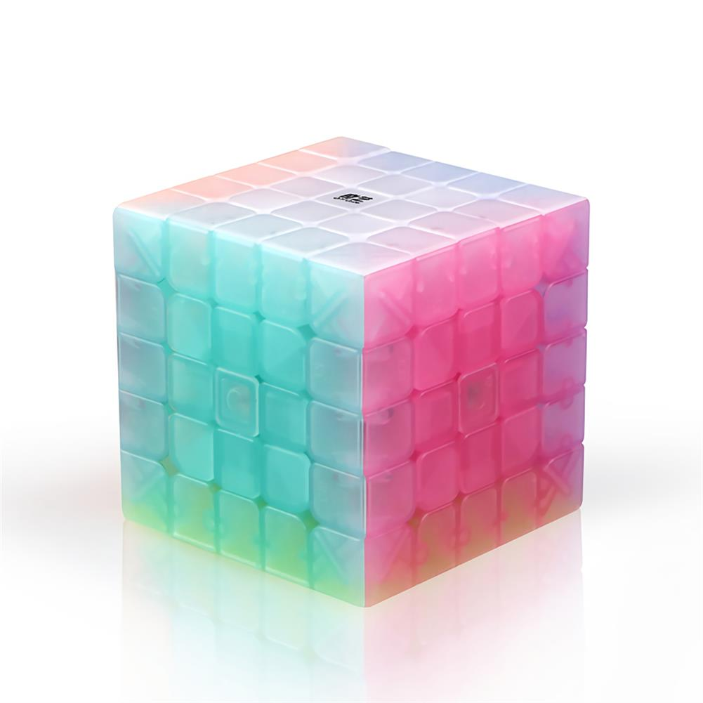 other-learning-office-supplies QiYi Magic Cube Jelly Color 3x3 4x4 5x5 Keychain Pyramid Professional Speed Cube Children Educational Toy Supplies HOB1748040 3 1