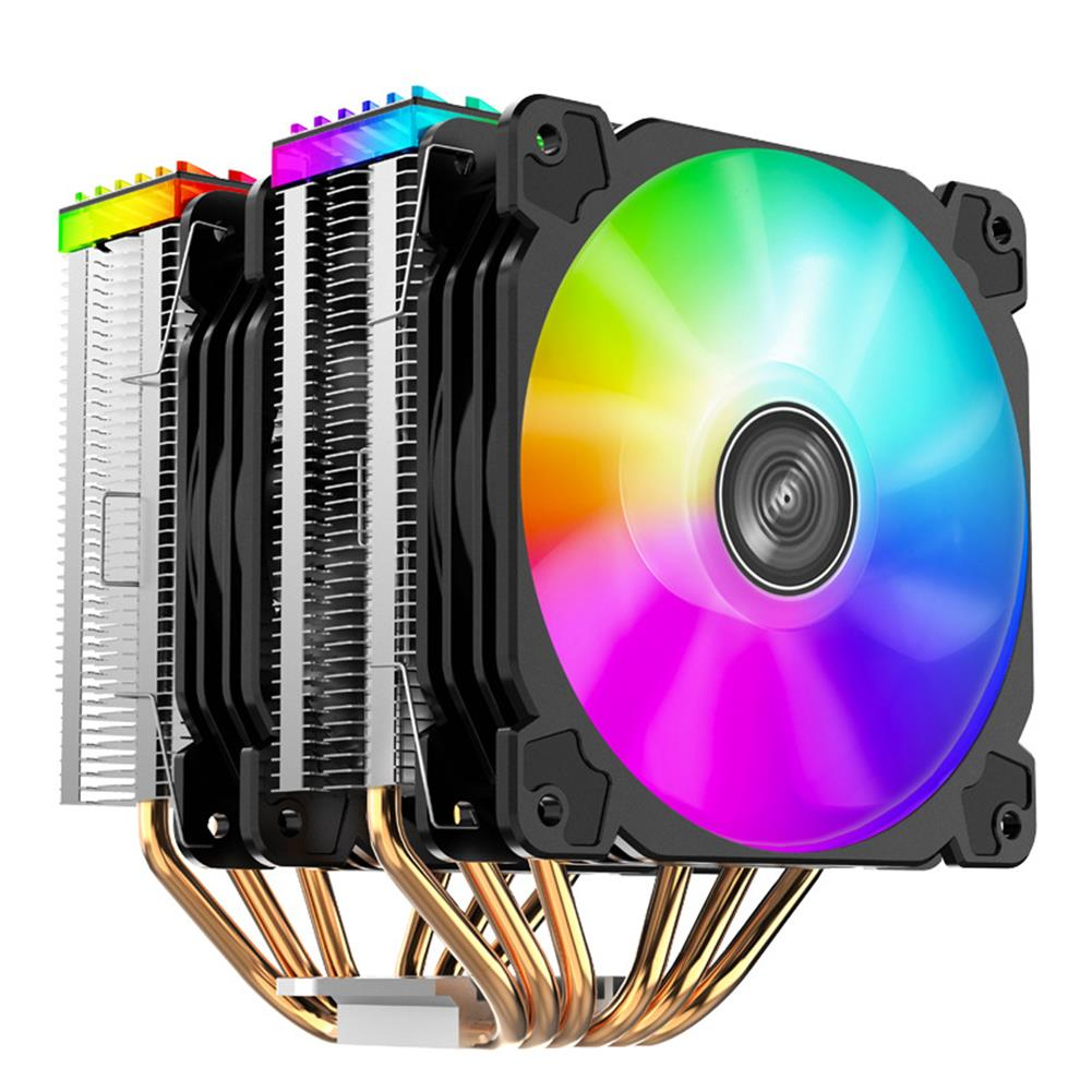 fans-cooling Jonsbo CR2000 6 Heatpipes Double tower CPU Cooler 120mm 5V/3PIN ARGB Cooling Fan 4PIN PWM Silence for LGA 775 1155 1156 AM4 AM3 HOB1748275 1