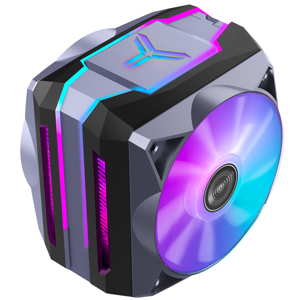 fans-cooling Jonsbo CR1100 CPU Cooler 6 Heat Pipes Colorful Light CPU Cooling Fan ARGB Sync Radiator Cooling with PWM Fans for intel and AMD HOB1748280 1 1