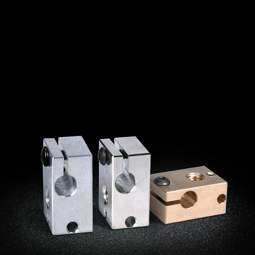 3d-printer-accessories BIGTREETECH V6 Plated Copper Heater Block V6 Brass PT100 Heat Block Fo V6 J-head Hotend BMG Titan Extruder 3D Printer Part HOB1748289 3 1