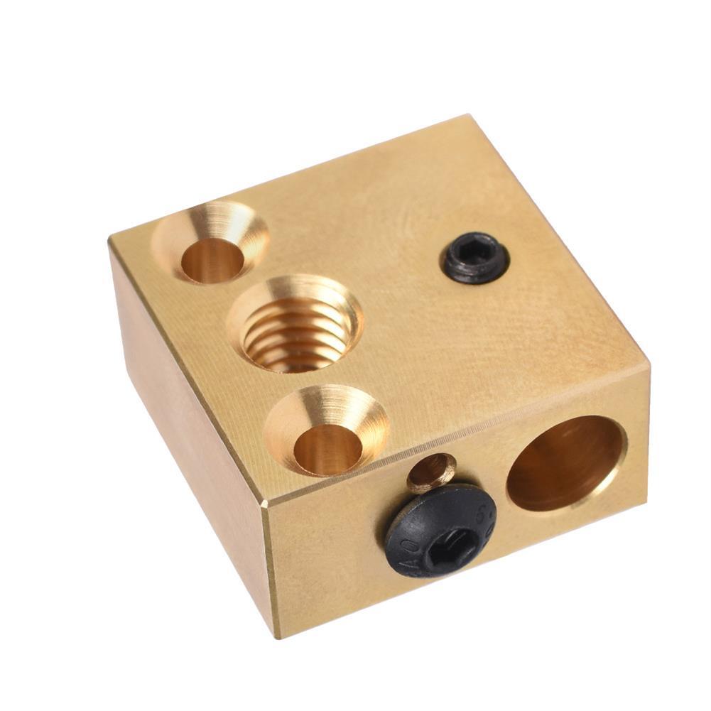 3d-printer-accessories BIGTREETECH Brass Heater Block for Swiss CR10 Hotend Ender 3 Mk7/Mk8/Mk9 J-head Extruder 3D Printer Part HOB1749879 2 1