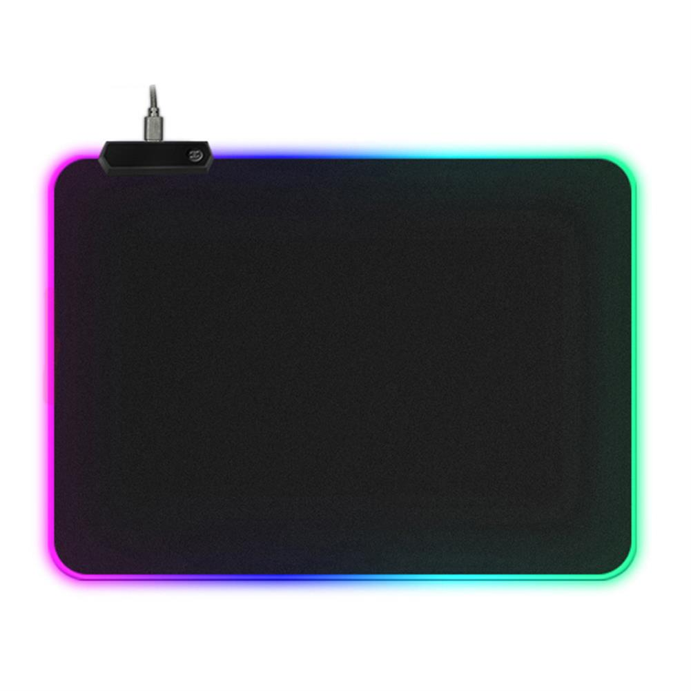 mouse-pads-keyboards-mouse USB RGB Luminous Mouse Pad Waterproof LED Mouse Mat Game Keyboard Antiskid Mouse Pad 4mm Thick HOB1750075 1
