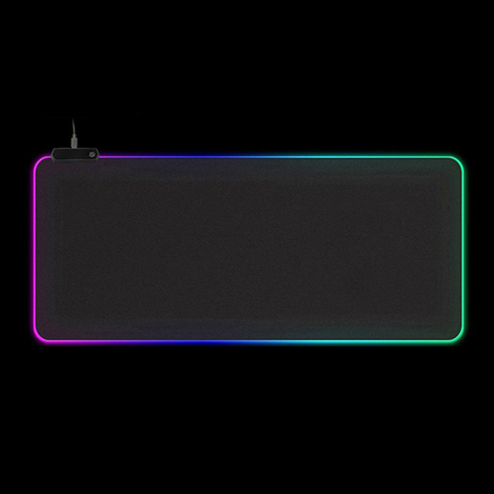 mouse-pads-keyboards-mouse USB RGB Luminous Mouse Pad Waterproof LED Mouse Mat Game Keyboard Antiskid Mouse Pad 4mm Thick HOB1750075 1 1