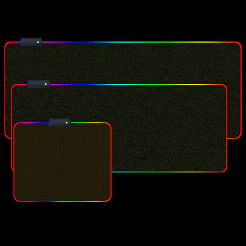 mouse-pads-keyboards-mouse USB RGB Luminous Mouse Pad Waterproof LED Mouse Mat Game Keyboard Antiskid Mouse Pad 4mm Thick HOB1750075 2 1