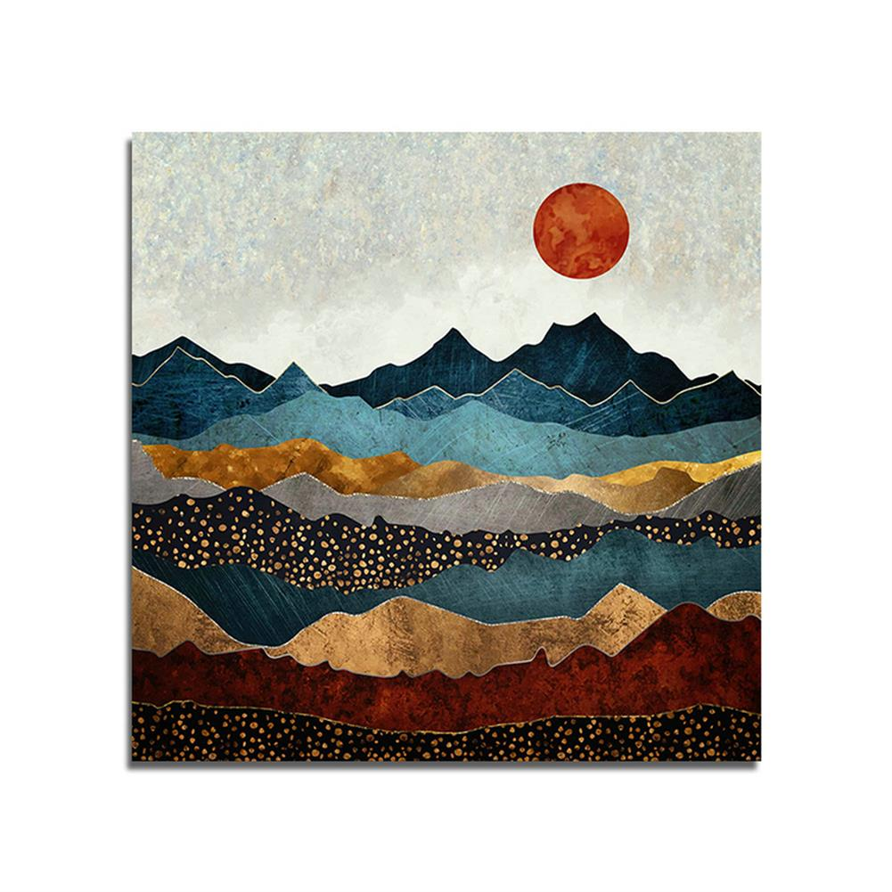 art-kit 1 Piece Landscape Canvas Painting Sunset Wall Decorative Art Print Picture Frameless Wall Hanging Home office Decoration HOB1750484 1
