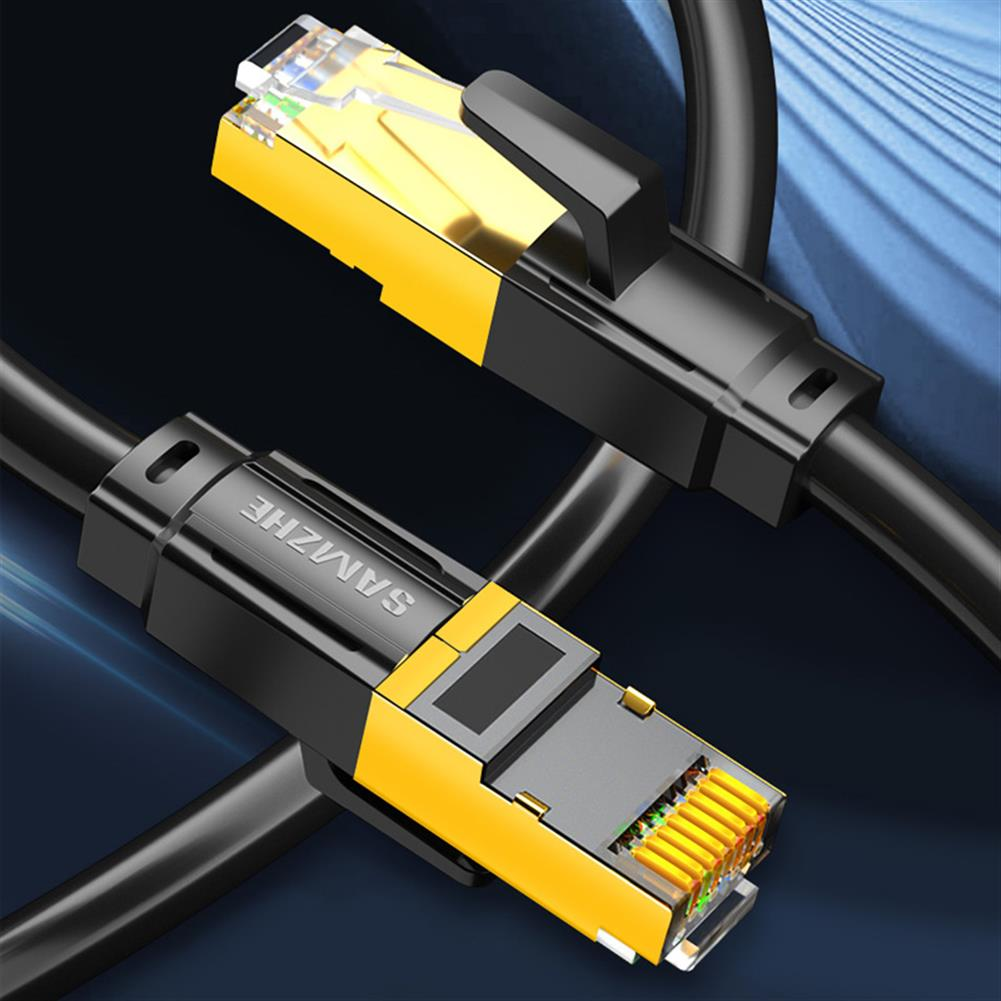 networking-cables-tools SAMZHE CAT8 SFTP Ethernet Cable Networking Cable Cat8 Patch 25Gbps 24AWG Copper Core 2000MHz RJ45 Cable HOB1750677 3 1