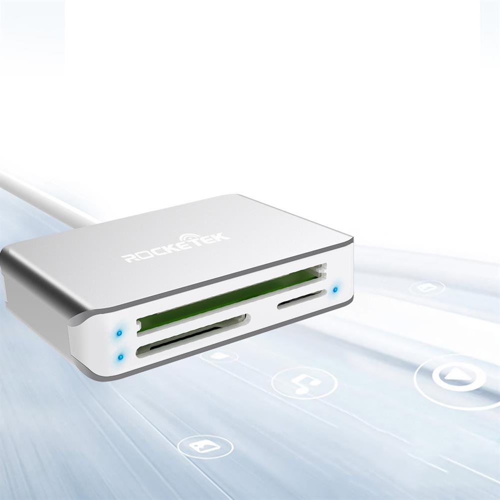card-readers Rocketek 5 in 1 USB3.0 Card Reader SD TF CF M2 Card Adapter 5Gbps Multifunctional Memory Card Reader CR306A HOB1750712 1 1