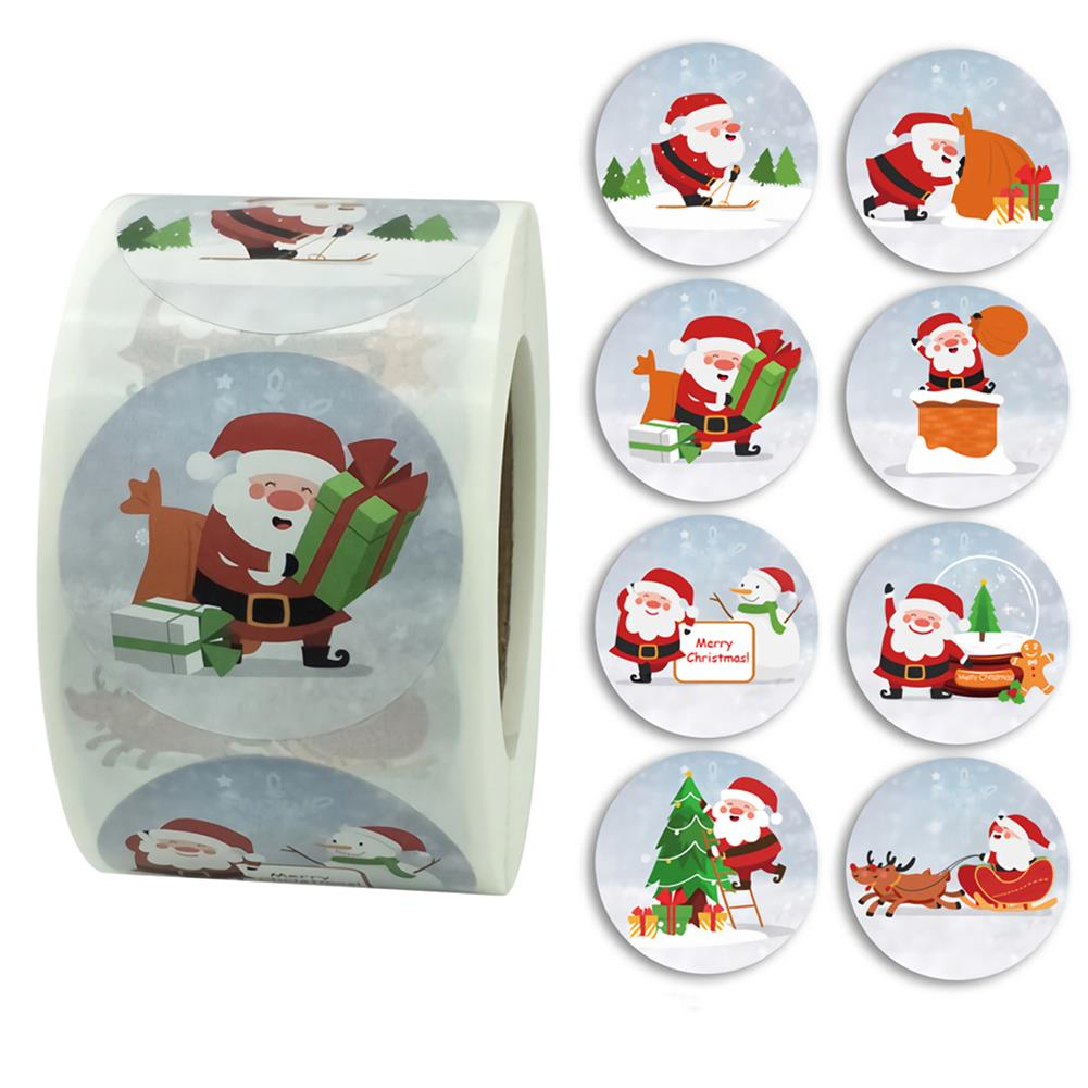 stationery-tape 500pcs Merry Christmas Stickers Card Box Package Santa Label Craft Sealing Stickers Wedding Decor Party Supplies HOB1750873 1 1